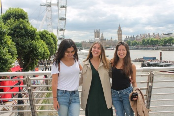 Londres-UK-London-Eye-Amigas