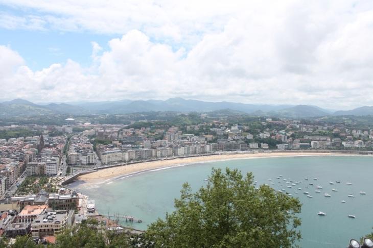España-San-Sebastián-Monte-Urgull-Vista